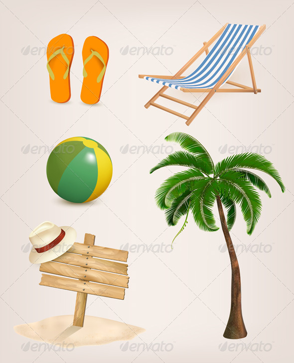 GraphicRiver Set of Vacation Related Icons 6914654