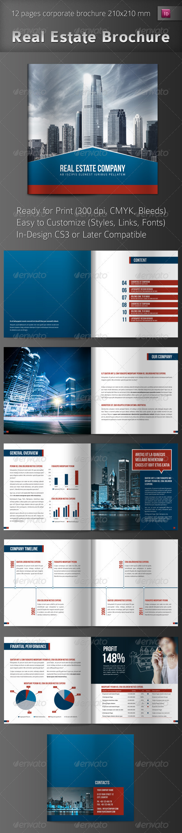 GraphicRiver Real Estate Brochure 721501