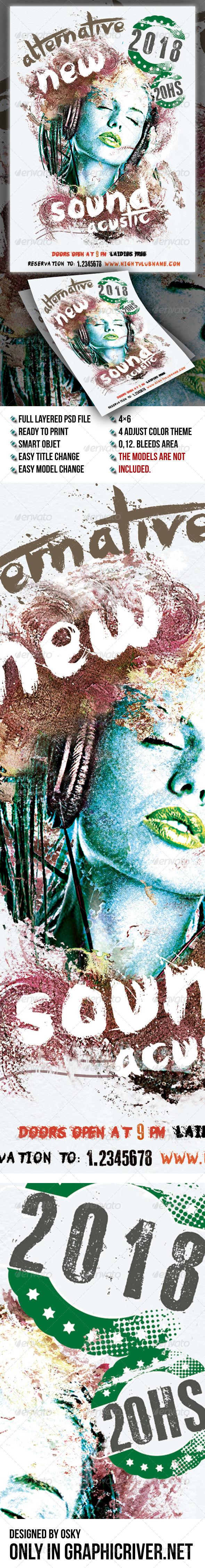 GraphicRiver Alternative Sound Flyer 6915293