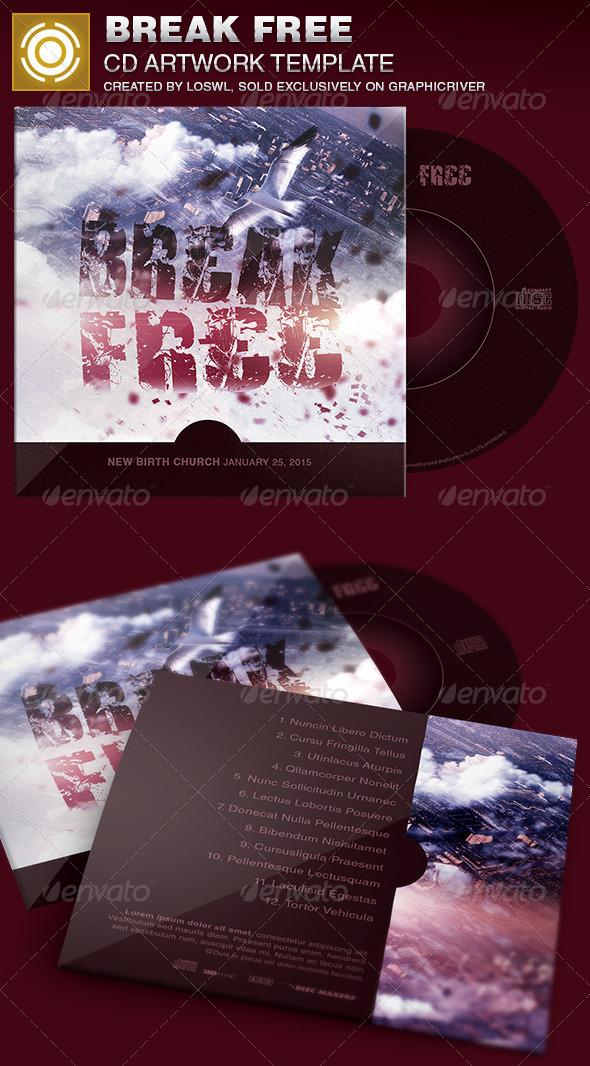 GraphicRiver Break Free CD Artwork Template 6915295