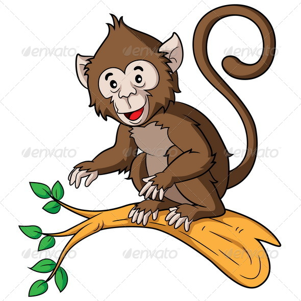 GraphicRiver Monkey Cartoon 6915296