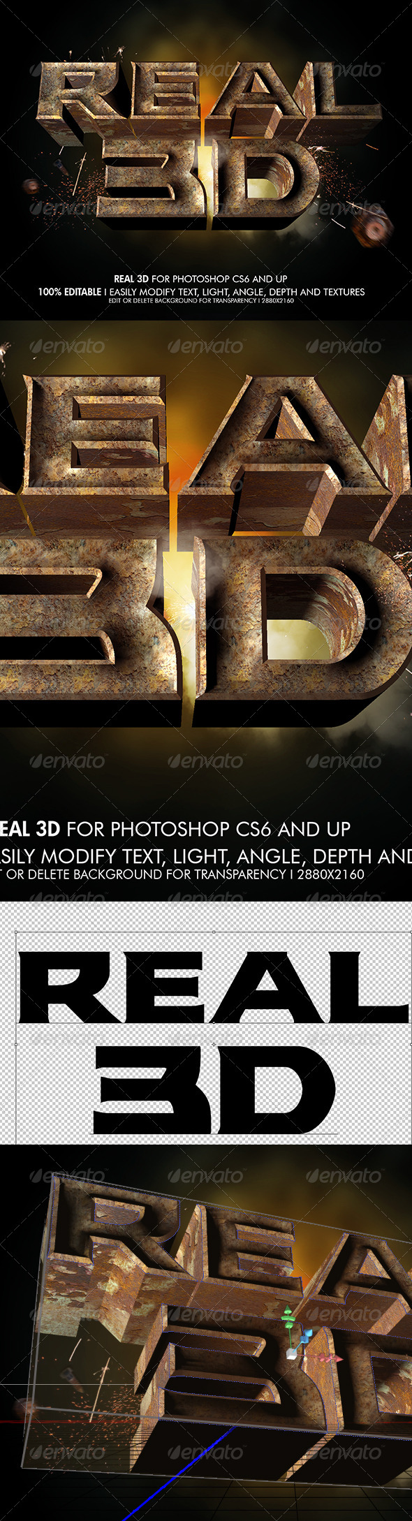 GraphicRiver Real 3D Rustic Metal V2 6915368