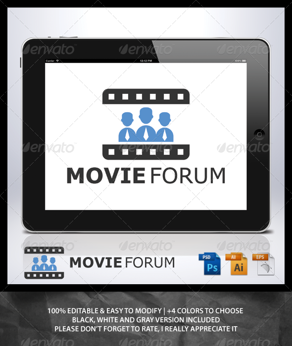GraphicRiver Movie Forum Logo 6915455