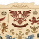 Heraldic Set of Lions, Eagles, Crowns and Shields  - GraphicRiver Item for Sale