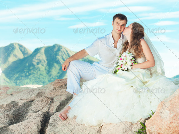 Wedding kiss - Stock Photo - Images