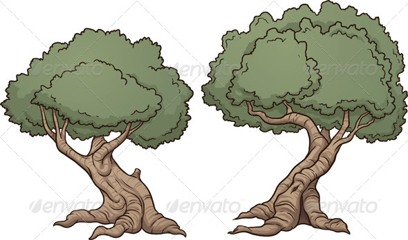 GraphicRiver Cartoon Trees 6915577