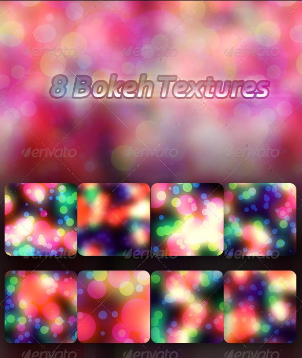 GraphicRiver 8 Bokeh Textures 6915619