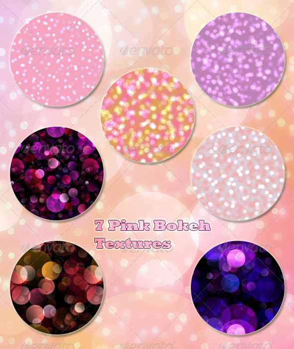 GraphicRiver 7 Pink Bokeh Textures 6915622
