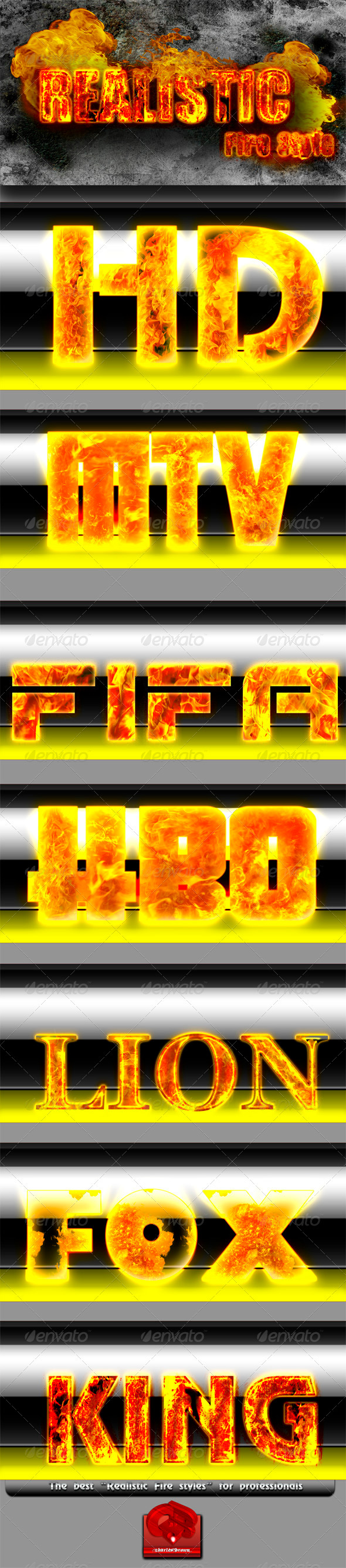 GraphicRiver Realistic Fire Text Styles 724789