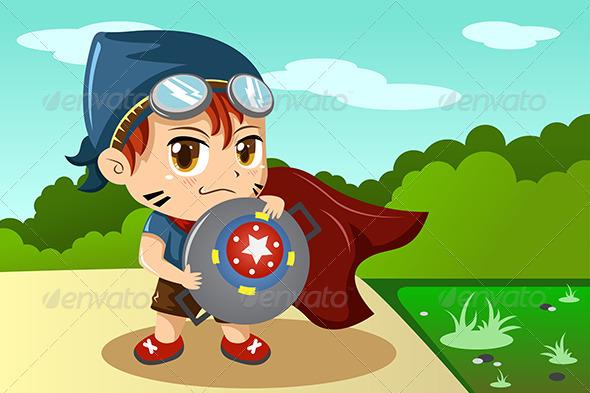 GraphicRiver Boy in Superhero Costume 6915803