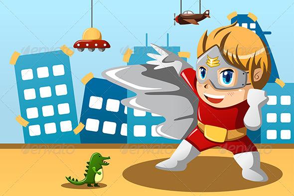 GraphicRiver Boy in Superhero Costume 6915804