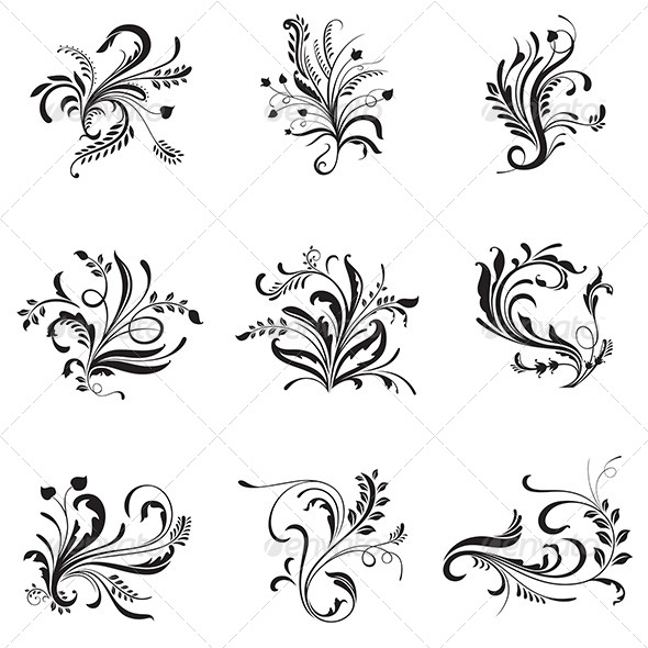 GraphicRiver Flower Ornaments 6915839