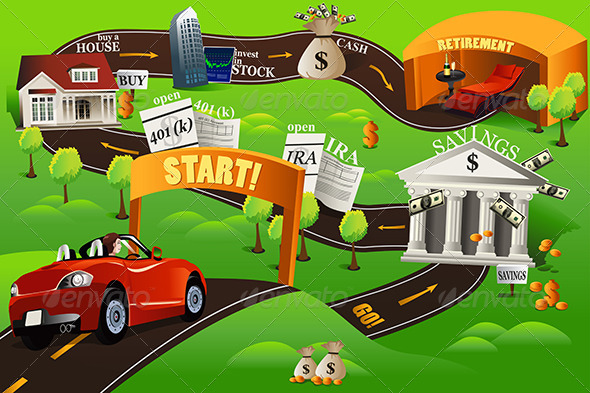 Roadmap Graphics Designs Templates from GraphicRiver – Blank Road Map