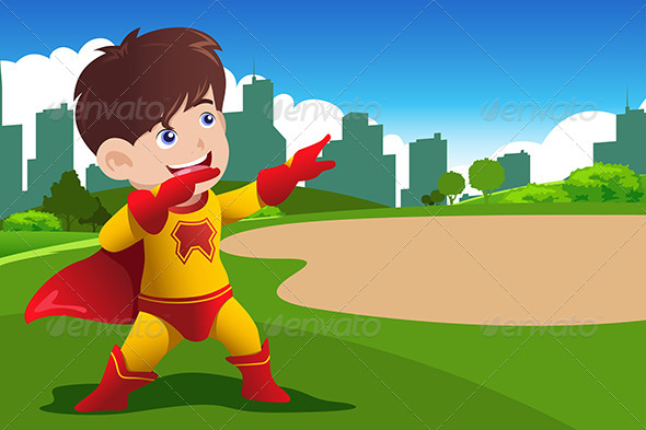 GraphicRiver Boy in Superhero Costume 6915856