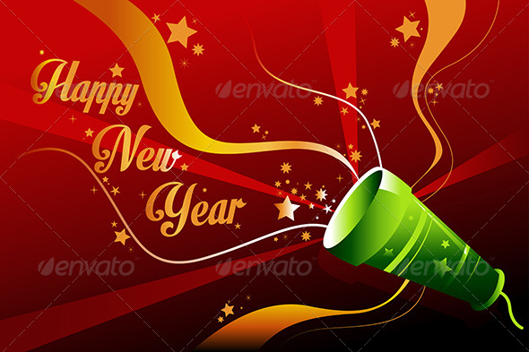 GraphicRiver New Year Background 6916111