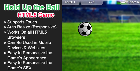 CodeCanyon Hold up The ball HTML5 Game 6893596