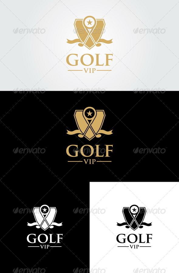 Golf Vip Logo Template