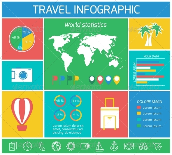 GraphicRiver Vacations Travel Infographics Elements 6889325