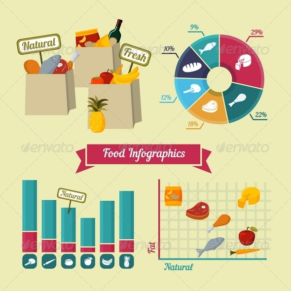 GraphicRiver Supermarket Foods Infographics Elements 6889273
