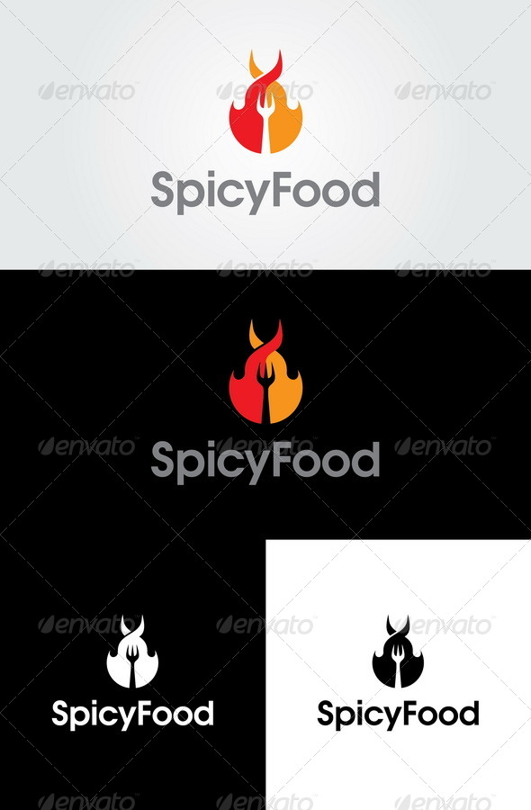 Spicy Food Logo Template