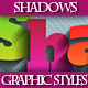 Set of Unique Vector Shadows Graphic Styles. - GraphicRiver Item for Sale