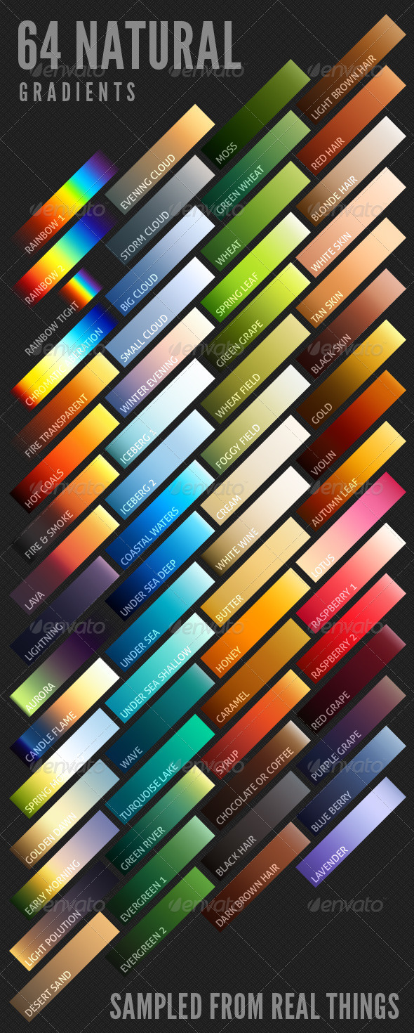 GraphicRiver 64 Natural Gradients 6916947