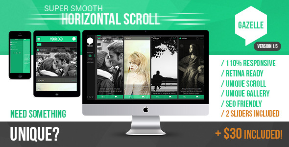 Gazelle - Responsive AJAX Portfolio and Blog Theme