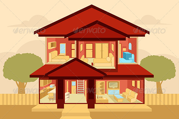 GraphicRiver Modern Home Interior 6917317