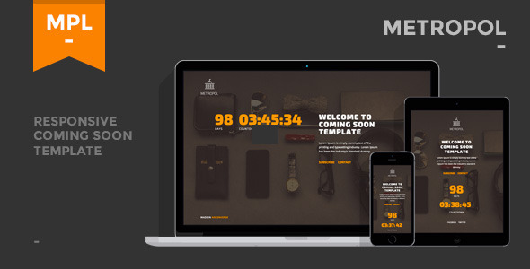 Metropol - Responsive Coming Soon Template - Under Construction Specialty Pages