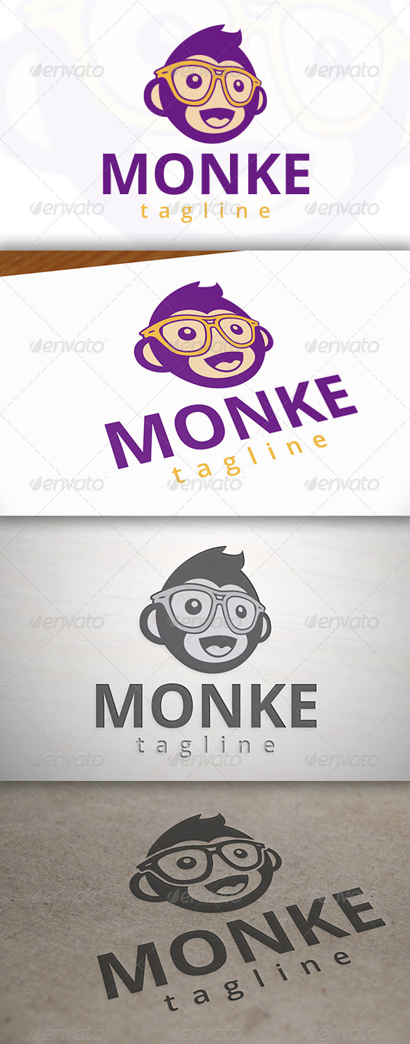 GraphicRiver Geek Monkey Logo Template 6917744