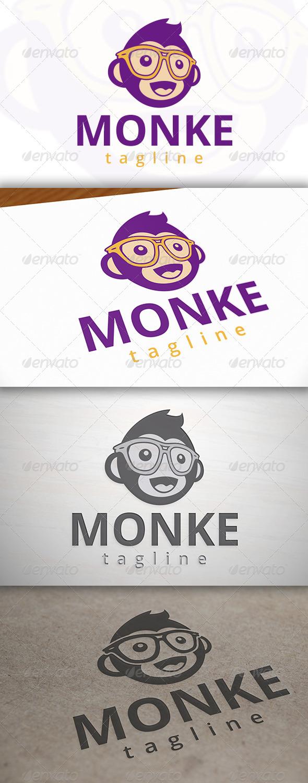 Geek Monkey Logo Template