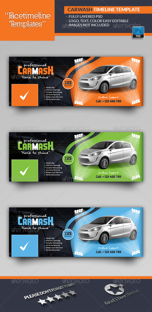 GraphicRiver Car Wash Timeline Templates 6916103