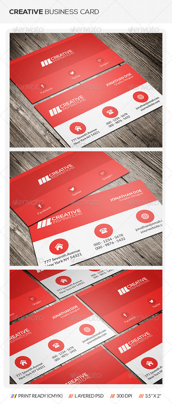 GraphicRiver Minimal Business Card 6917852