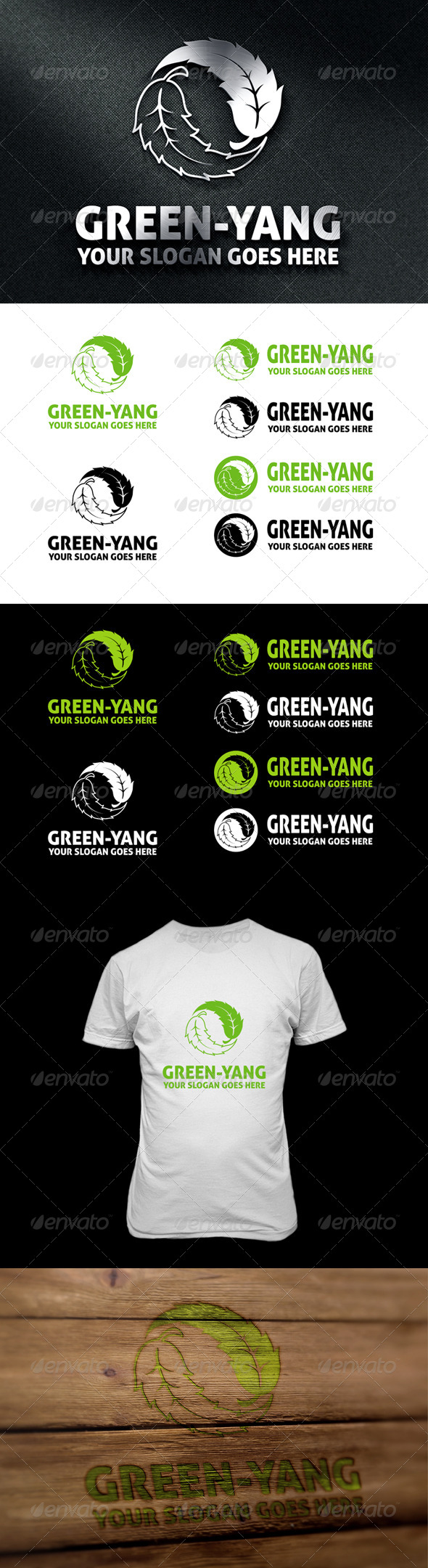 GraphicRiver Green-Yang Logo 6917939