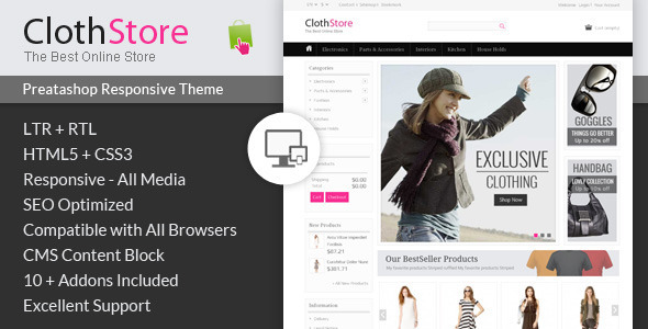 ThemeForest ClothStore Prestashop Responsive Theme 6917986