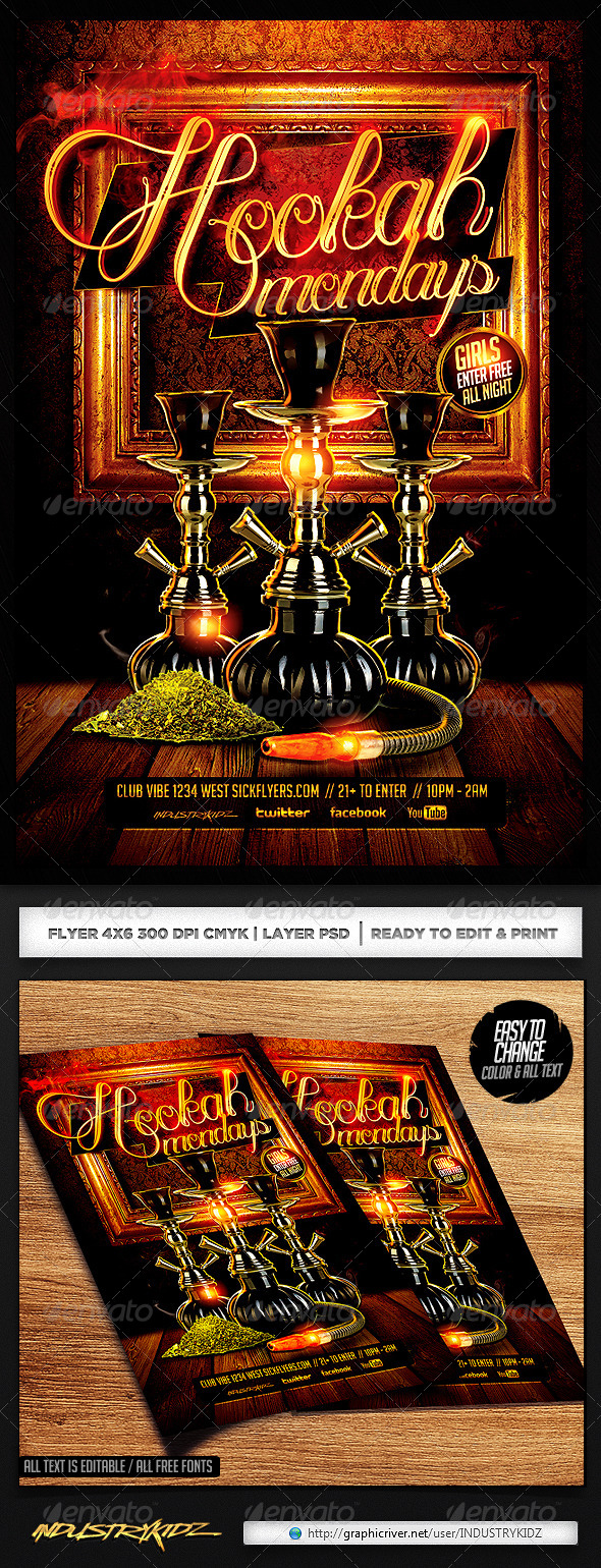 GraphicRiver Hookah Flyer Template PSD 6918017