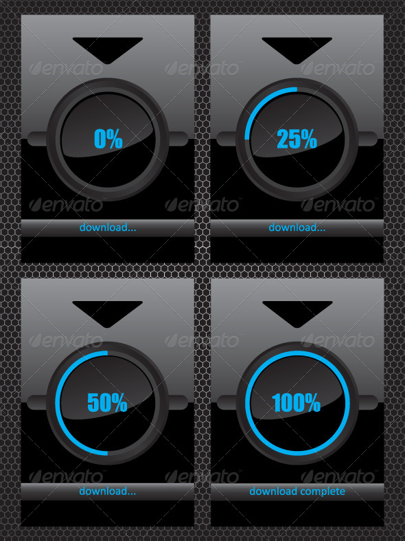GraphicRiver Black Glass Download Progress Bar 6918020