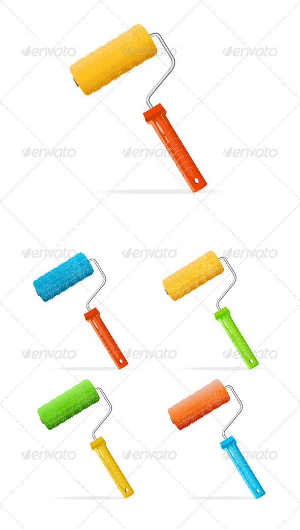 GraphicRiver Paint Rollers 6918476