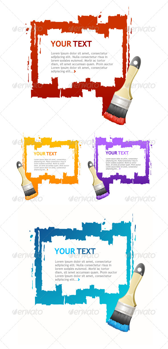 GraphicRiver Vector Brush Frame Concept 6918554