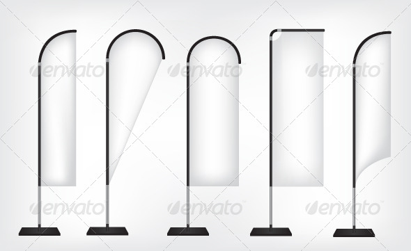 GraphicRiver Flag Banner Stand 6918825