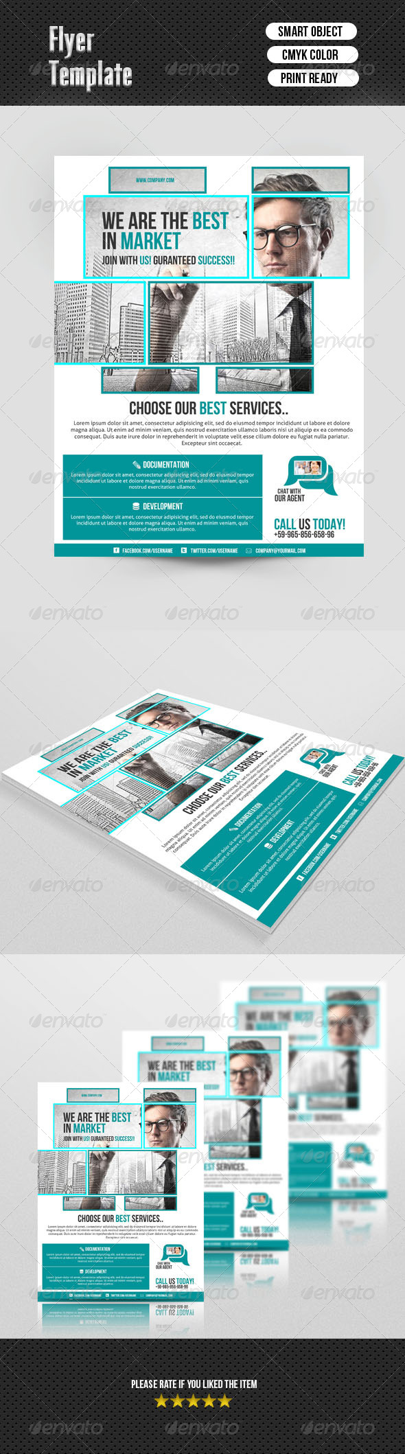 GraphicRiver Corporate Flyer Template 6918834