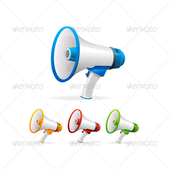 GraphicRiver Vector Megaphone Set 6918976