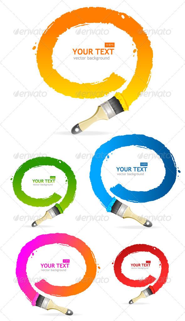GraphicRiver Vector Brush Speech Bubbles Set 6919101