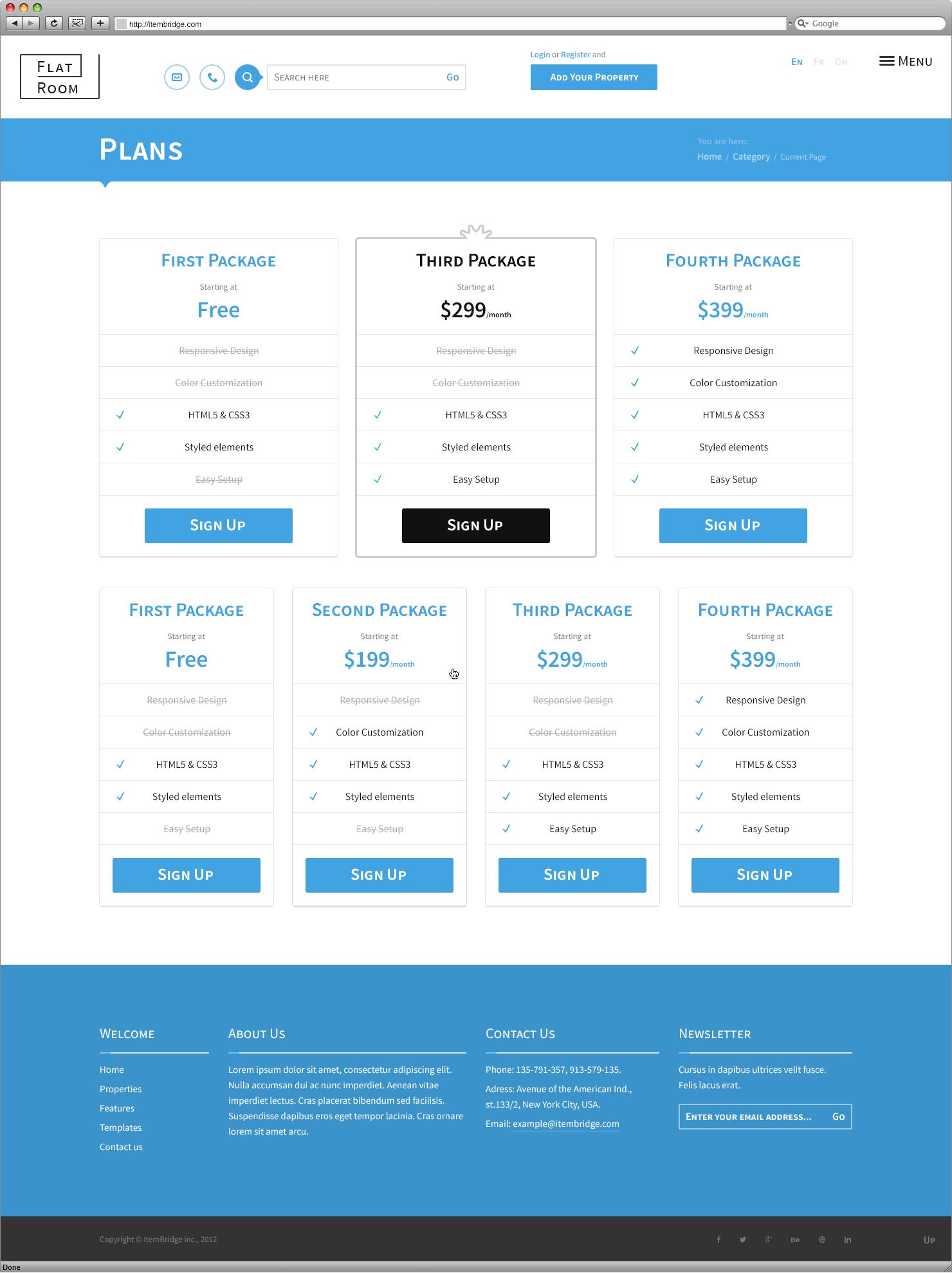 FlatRoom — Responsive Real Estate WordPress Theme