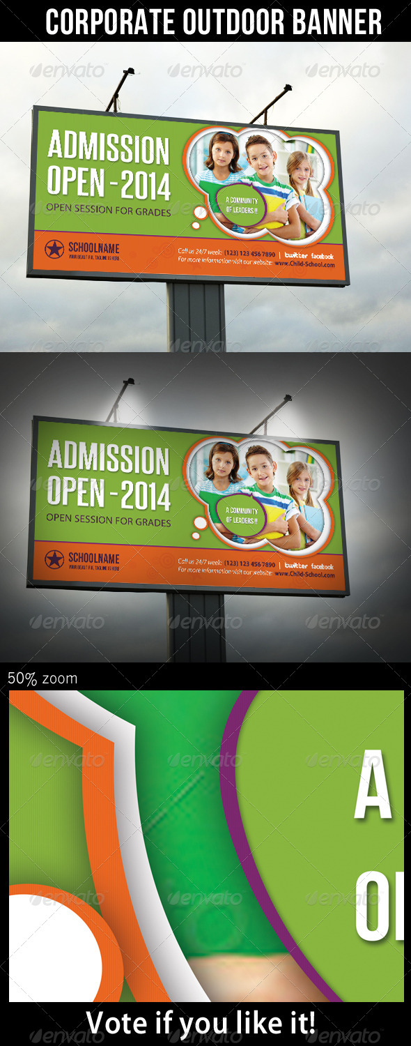 GraphicRiver Junior School Promotion Outdoor Banner 03 6919984