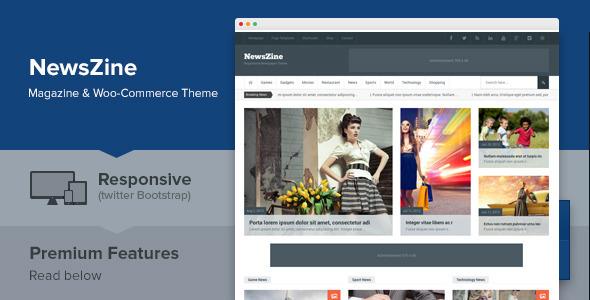 ThemeForest NewsZine Responsive Multipurpose Newspaper Theme 6889734