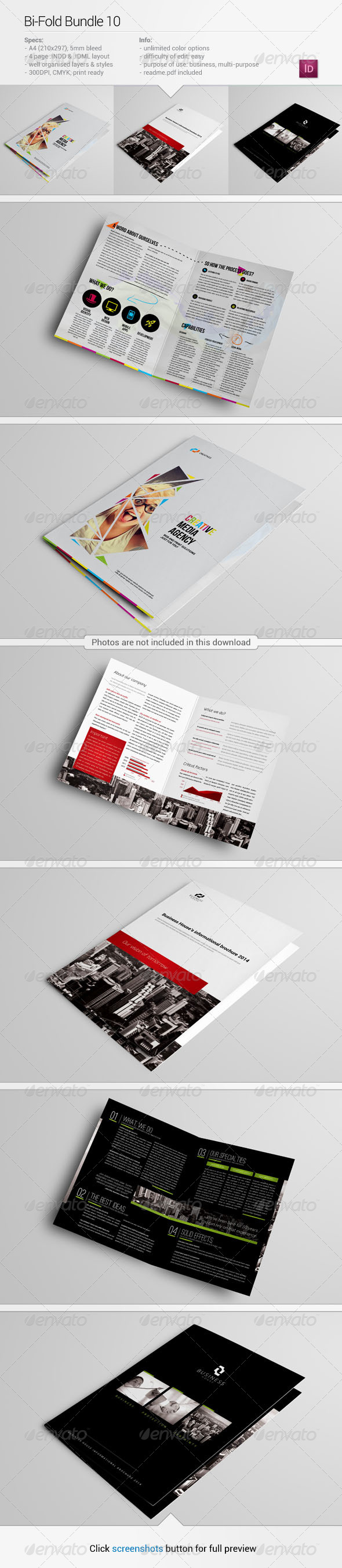 GraphicRiver Bi-Fold Bundle 10 6920240