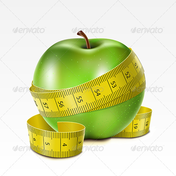 GraphicRiver Apple with Centimeter 6920245
