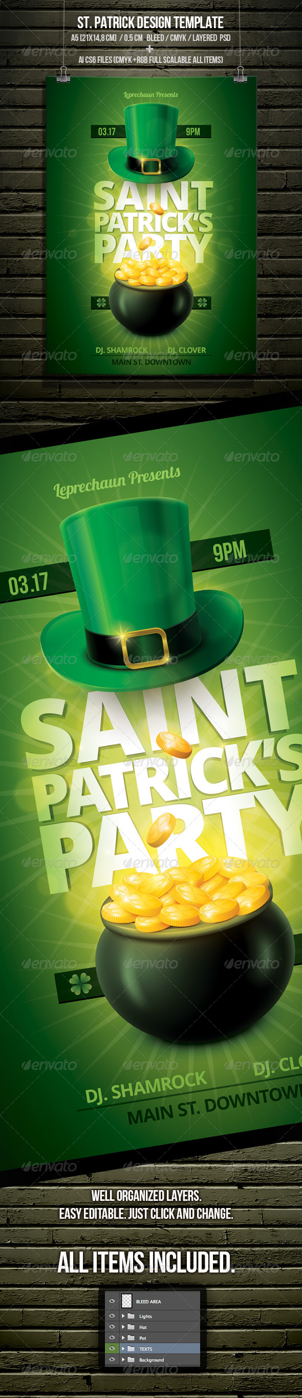GraphicRiver St Patrick s Day Party Flyer Template 6920412