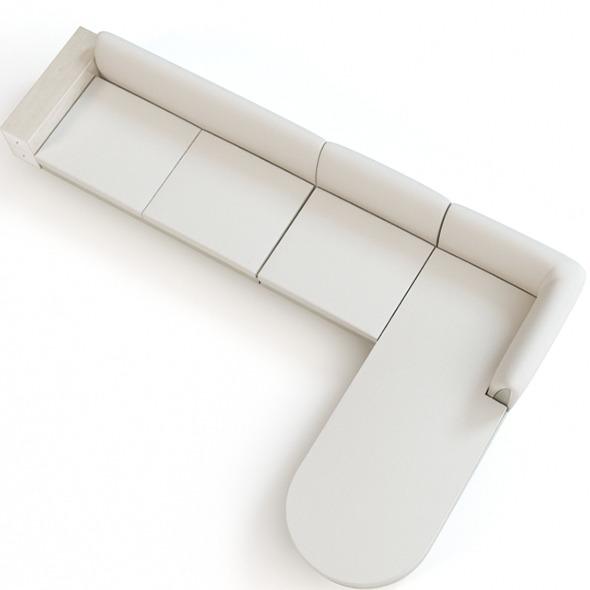 Contemporary Corner Sofa  - 3DOcean Item for Sale